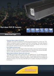 Out door P2P IP Camera Water Proof Type