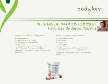 las recetas de batidos bodykey favoritos de jason roberts - Amway