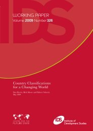 Country Classifications for a Changing World - Institute of ...