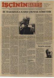 İşçinin Gazetesi, Yıl 1, Sayı 5 - türkiye komünist partisi