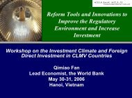 Reform Tools and Innovations to Improve the Regulatory ...