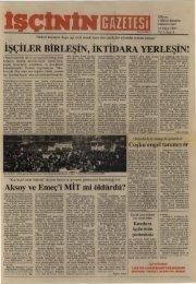 İşçinin Gazetesi, Yıl 1, Sayı 8 - türkiye komünist partisi