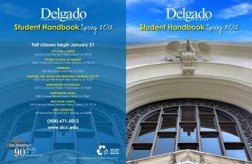 Spring 2012 Student Handbook - Delgado Community College
