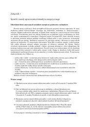 materiały informacyjne - Energia i środowisko w Częstochowie