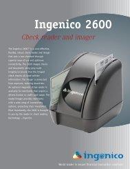 Ingenico 2600 - Velocity Funding