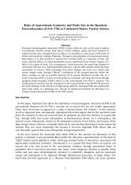 Roles of Approximate Symmetry and Finite Size in the Quantum ...