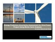 Energy Prediction Uncertainty Assessment for Wind Power ... - NPTI