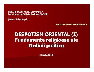 DESPOTISM ORIENTAL (I) DESPOTISM ORIENTAL (I ... - Academos