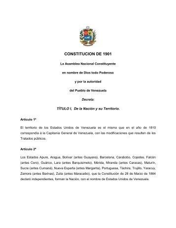 1901 Constitucion - Revolucion Bolivariana - Antiescualidos