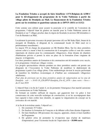 Association-La Voûte Nubienne (AVN)-Belgium