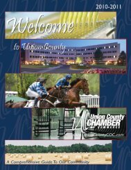 2010-2011 newcomers guide.pdf - Union County Chamber of ...