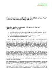 Effizienzhaus Plus - german communications