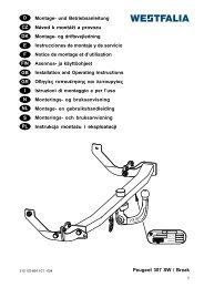 Peugeot 307 SW / Break D Montage- und ... - Westfalia