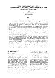 inventarisasi bitumen padat daerah banjarnegara, kabupaten