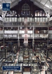 The Pitt Rivers Museum Conservation Plan - Central Administration ...