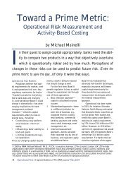 Toward a Prime Metric: Operational Risk Measurement and - Z/Yen