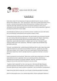 Yarışma Şartnamesi - Attila İlhan Bilim Sanat ve Kültür Vakfı