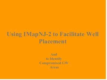 NJDEP Internet Based Mapping of Contaminated Site Information