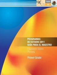 programa de primer grado - Subsecretaría de Educación Básica ...