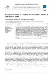 A Comparative Analysis on Leadership Qualities of ... - Iojes.net