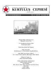 Kurtuluş Cephesi, 59. SAYI (Ocak-Şubat 2001)