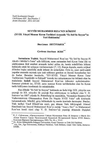 Neriman Seyityahya, Seyyid Muhammed Rıza'nın ... - Ege Üniversitesi