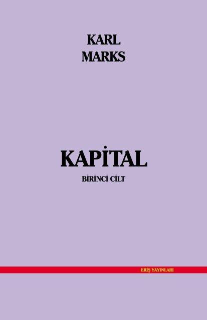 Kapital Cilt I Antikapitalist