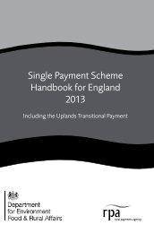 Single Payment Scheme Handbook for England 2013 - The Rural ...