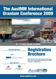 Uranium 2009 Registration Brochure - The AusIMM