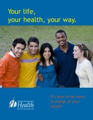Your Life, Your Health, Your Way - Health Education Resource ...