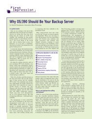 Why OS/390 Should Be Your Backup Server - Innovation Data ...