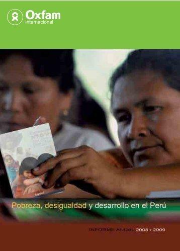 Pobreza, desigualdad y desarrollo en el Perú - Oxfam International