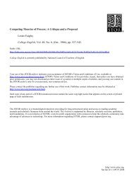 Competing Theories of Process: A Critique and a Proposal Lester ...