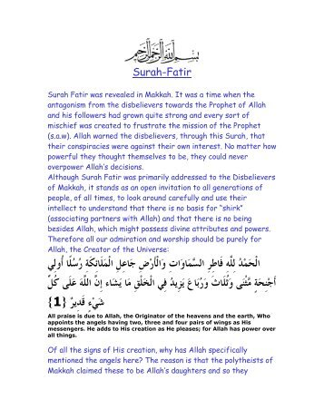 Surah-Fatir - Farhat Hashmi