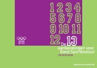 13 Aanbevelingen voor Goed Sportbestuur - NOC*NSF
