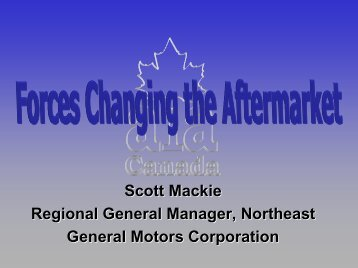 Part 1 - Automotive Industries Association of Canada
