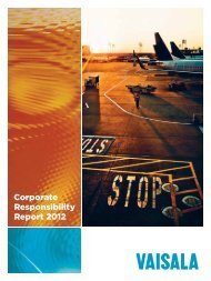 Vaisala Corporate Responsibility Report 2012
