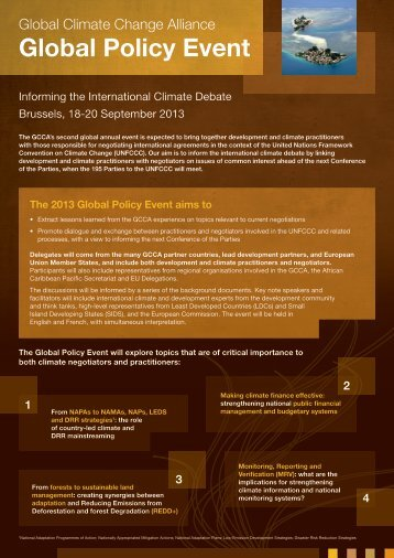 GCCA Global Policy Event Flyer 2013 - Global Climate Change ...