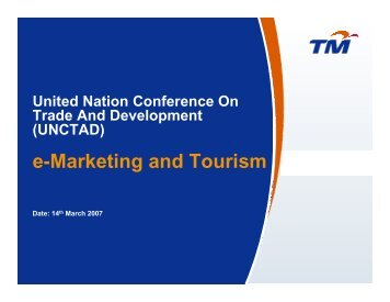 e-Marketing and Tourism - Unctad XI