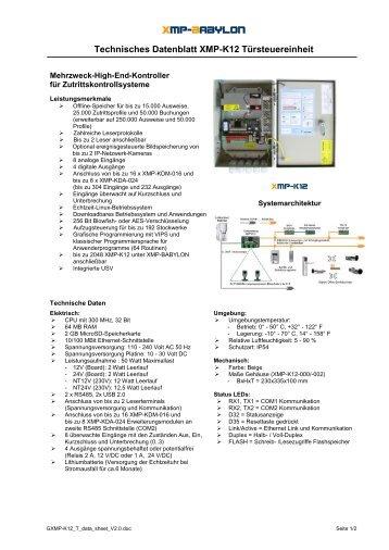 XMP-K12 - AUTEC Gesellschaft für Automationstechnik mbH