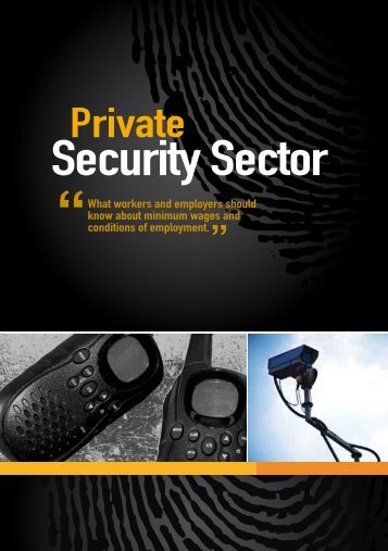 ES- Private Security Sector - Department of Labour