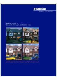 Download the 1999 Annual review PDF - Centrica