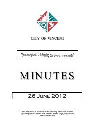 26 June 2012 - City of Vincent