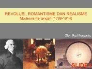 REVOLUSI, ROMANTISME DAN REALIMSE