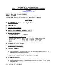 Microsoft Word - Oct. 15, 07 Board Agenda.pdf - Oxford Hills School ...