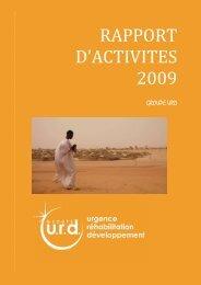 Rapport d'activités 2009 - Groupe URD