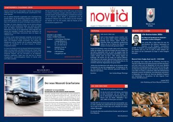 Novita 10.1 - Frühjahr 07/08 - Maserati Club Schweiz