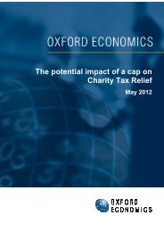 The potential impact of a cap on Charity Tax Relief - Charities Aid ...