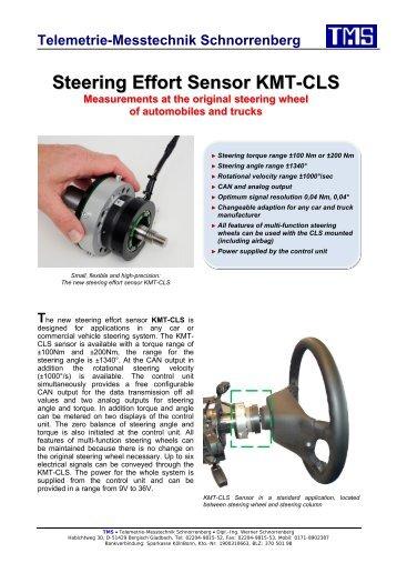 Steering Effort Sensor KMT-CLS - TMS · Telemetrie-Messtechnik ...
