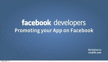 Promoting your App on Facebook